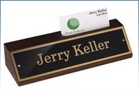 Engraved Signs, Laser Engraved Black Marble Desk Bar, 2-3/8 x 8, Qty-10