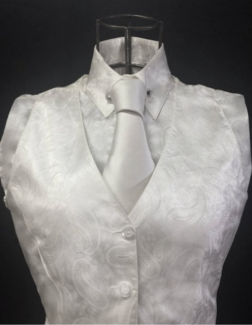 Ladies' Cream Paisley  InVestments Vest