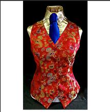 Ladies' Red Paisley Investment Vest
