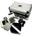 """CM100 Roast Degree Analyzer SCAA APPROVED Includes Carry Case & Accessories PC Data Logging Software Working hour 6 H Warm-up time 60 seconds  Housing Material ABS + Aluminum Product Size (include bean dish) L: 123.4 mm W: 123.4 mm H: 132 mm  Measurement area 49 cm 2 Panel size 1.6"""" 128 x 64 mono OLED Light Infra-red LED Sensor Infra-red Sensor Log 100  Operating temperature 0-50 degree C Storage temperature-10 – 60 degree C  Power consumption 1.7W Charging Power 5V, 2A  Charging method micro USB Port Battery capacity Lithium-ion 1150 mAh Battery"""