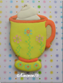 COFFEE MUG  WITH PEDESTAL AND WHIPPED CREAM COOKIE CUTTER