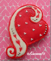 SWIRLED HEART LEFT COOKIE CUTTER