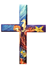 Hand Painted Diver's Cross