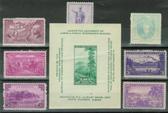 United States 1937 Commemorative Year Set, Scott Cat. Nos.  0795 - 0802, MNH