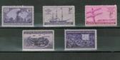 United States 1944 Commemorative Year Set, Scott Cat. Nos.  0922 - 0926, MNH