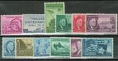United States 1945 Commemorative Year Set, Scott Cat. Nos.  0927 - 0938, MNH