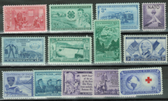 United States 1952 Commemorative Year Set, Scott Cat. Nos. 1004 - 1016, MNH