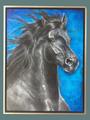 "Lila Blakeslee Original ""Black Horse"""