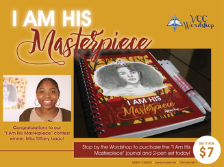 I Am His Masterpiece Journal and Two Pen Set