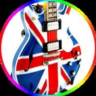 Noah Galagher OASIS Union Jack Guitar Miniature