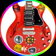 Alvin Lee Guitar Ten Years After Miniature
