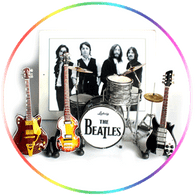 The Beatles Ed Sullivan Miniature Guitar Set Super Mini