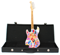 Jimi Hendrix Art Guitar Miniature with Case