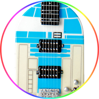 Star Wars Theme R2D2 Guitar Art Miniature Guitar