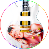 Joe Perry Aerosmith For the love of Billie Perry Art Miniature Guitar