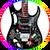 Steve Vai Guitar Floral Pattern 2 JEM Monkey Grip Ibanez