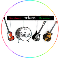 The Beatles Ed Sullivan Miniature Guitar Set Ornament