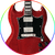 Pete Townshend The Who Red Signature Miniature Guitar