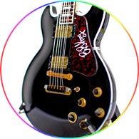 BB King Guitar Collectible Miniature Black