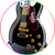 BB King Guitar Collectible Miniature Black