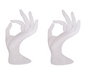 "2 White Fiberglass Display Hands 7"" Tall MM-JW-A5WH"