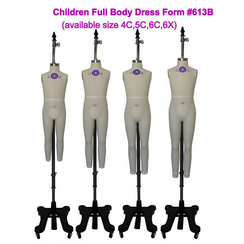 Professional Children Dress Form Sizes: 4C, 5C, 6C, 6X