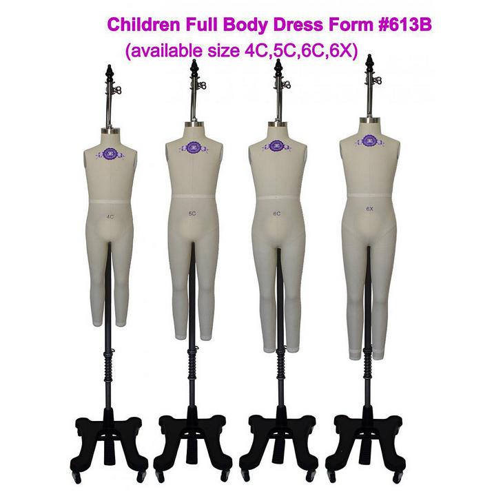Professional Children Dress Form Sizes: 4C, 5C, 6C, 6X