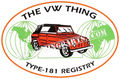 VW THING REGISTRY STICKER