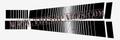 BLACK STROBE STRIPE KIT 181 SIDES AND HOOD