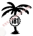 181 PALM TREE SMALL BLACK OR WHITE