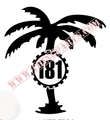 181 PALM TREE LARGE BLACK OR WHITE