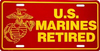 License Plate, US Marines Retired