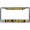License Plate Frame, Retired US Army