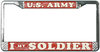 License Plate Frame, I Love My Soldier