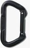 "Non-Locking ""D"" Carabiner, Black"