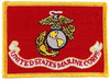 Iron On Patch, USMC Flag