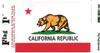 Flag It Sticker, California State Flag