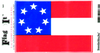Flag It Sticker, 1st Confederate Flag
