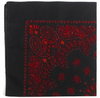 "22"" BLK/RED Trainmen Paisley Bandana"