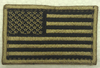 American Flag Patch, Tan & Black