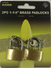 "Padlock, 2PC 1-1/4"" Brass"