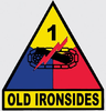 Decal, 1st Armored Division Old Ironsides