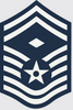Decal, USAF E-8 SMSGT 1st SGT