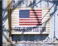 Americana Flag Plaque