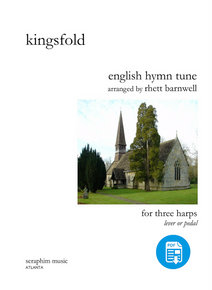 Kingsfold  (English Folk Tune), for 3 harps by Rhett Barnwell-PDF