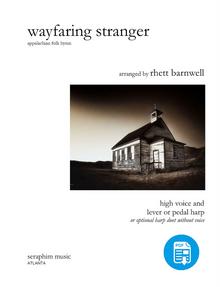 Wayfaring Stranger, arr. Rhett Barnwell, Voice and Harp or 2 Harps - PDF