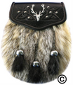 1524-09 Badger front - Embossed Flap, Stag Badge