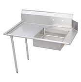 """Dish Table Dirty Left Side, 48"""" with sink."""
