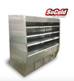 "Stainless Steel Refrigerated Deep Low Profile Open Merchandiser 63.5"""