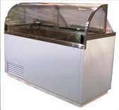 Nelson Model N12DIPHV Curved Glass Dipping Cabinet